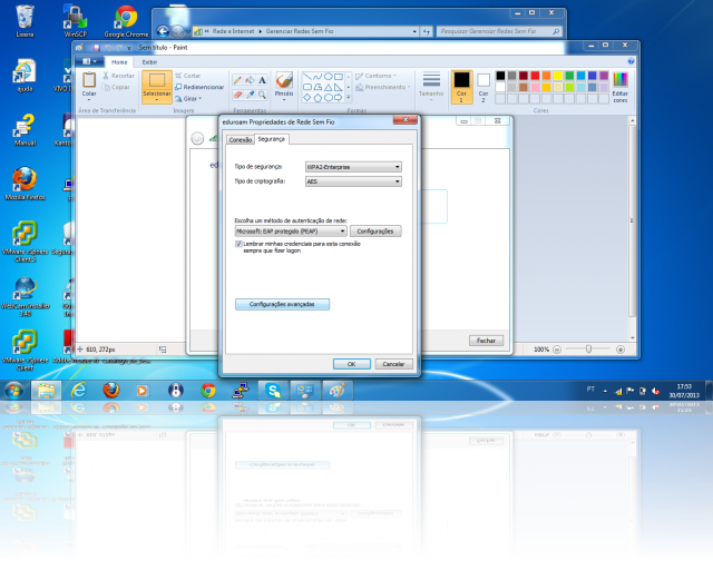 Cliente Windows - wp2-enterprise PEAP/MSCHAPv2