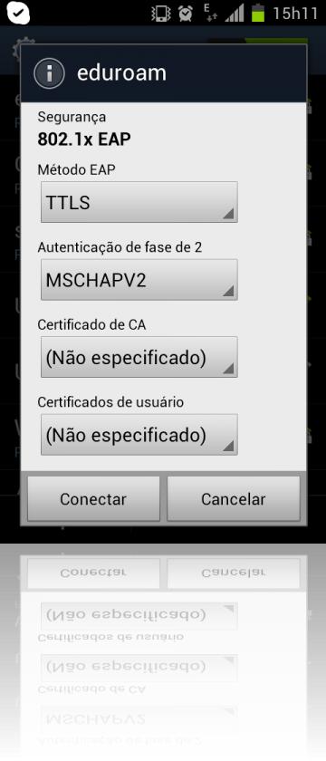 Cliente Android - parâmetros